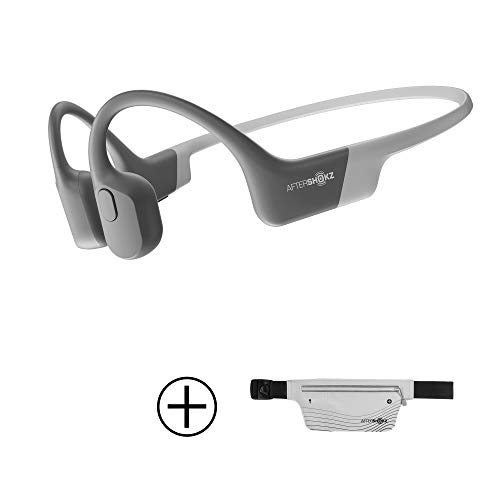 AfterShokz Aeropex Open-Ear Wireless Bone Conduction Headphones with Sport Belt