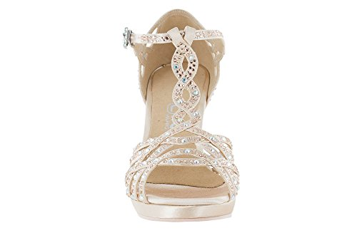 Dancing Shoes Veronica Arraiswi with Plateau in face Powder Pink Satin 54760d6f031