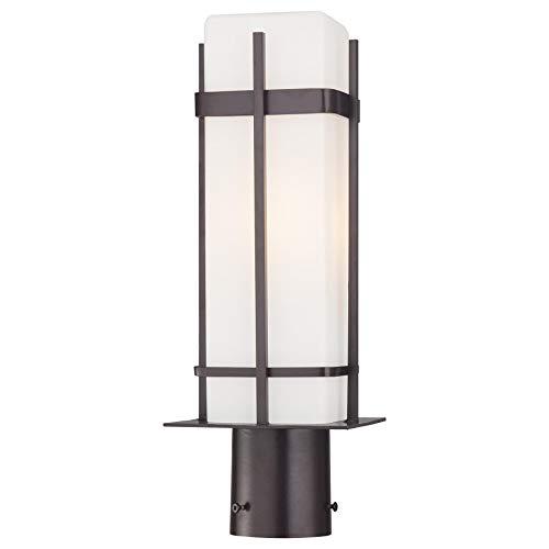 (Minka Lavery Outdoor Post Lights 72356-615B-PL Sterling Heights Exterior Post Lantern, 26w Fluorescent, Bronze)
