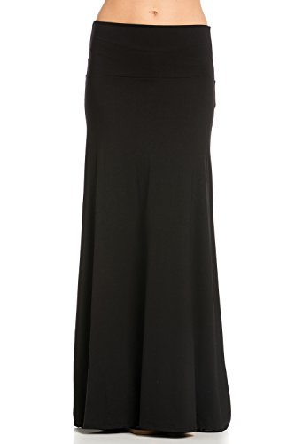29dc463c22dc7 Frumos Womens Maxi Skirts Long Skirt Black X-Large - Buy Online in ...