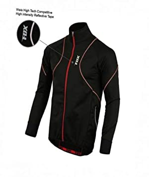FDX Mens Performance Cycling Jacket Wind stopper Thermal Winter Running Hi  viz (Small) ea37df7eb