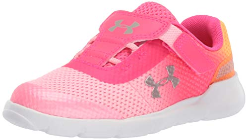 Under Armour Girls' Infant Surge RN Sneaker, Pop Pink (602)/Pinkadelic, 8 M US Toddler (Size 8 Sneakers For Girls)