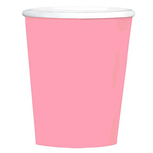Amscan Disposable Plain Coffee Cups Party Tableware, New Pink, Paper, 12 Ounces, Pack of 40 Others Supplies , 480 Pieces