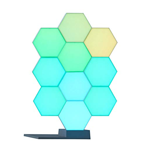 Yescom WiFi Smart LED Light Kit Splicing 10 Block & Base 16 Million Color Work Cololight with Alexa Google Home Decor