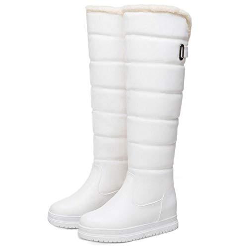 On On Donne Caldo Foderato Foderato Foderato Scarpe Lydee bianca Moda Zeppa Inverno Pull 1 wgnOn8x