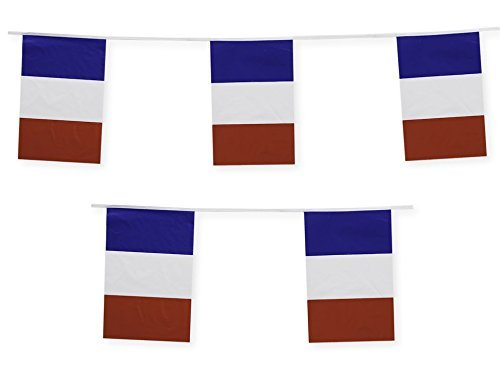 France Flag Banner French Party Decoration by Gabby Fun Corp ()