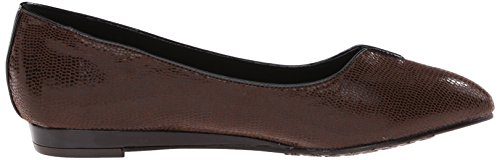 Hush Brown Dark Lizard Suave Flat Ballet Puppies por Estilo Dillian pETxTvqUw