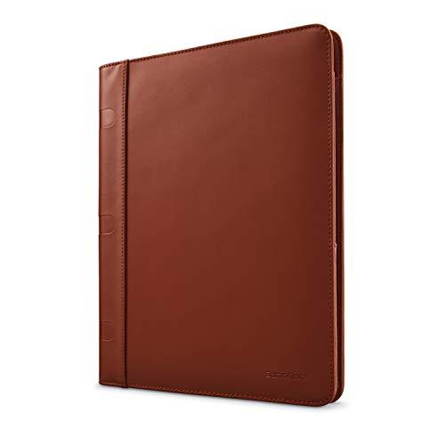 Samsonite Xenon Leather Business Portfolio Briefcase, Saddle, One Size