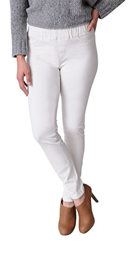 Eileen Fisher Sueded Stretch Organic Cotton Sateen Jegging (XL, Bone) Stretch Sueded Cotton Pants