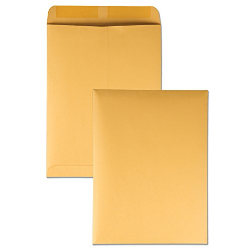 Quality Park Heavyweight Catalog Envelopes, Gummed, Brown Kraft, 10 x 13, 250 per Box, (41665)