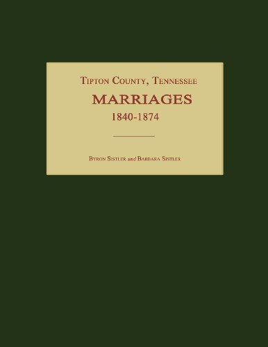 Tipton County, Tennessee, Marriages 1840-1874