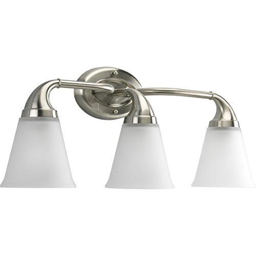 Progress Lighting P2760-09 3-Light Bath Which Mounts Up Or Down, Brushed Nickel