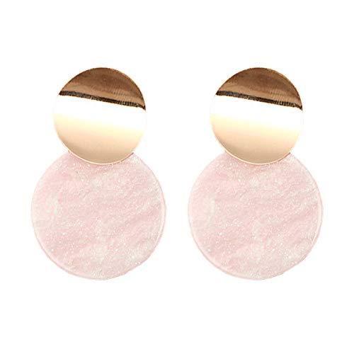 Geometric Dangle Earrings Drop Hoop Tassel Chandelier Ear Cuff Stud Earrings Women Girls Fashion Piercing Minimalist Wedding Bridal Tribal Long Dangling Charms Jewelry Pink Tone