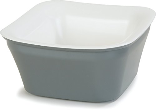 Carlisle CM1400441 Coldmaster Insulated Square Serving Crock Only, 1 Quart, White-Charcoal