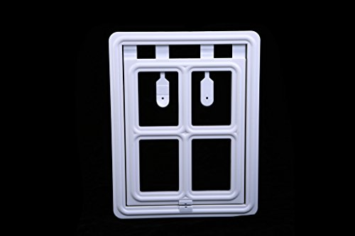 Pet Leso White Magnetic Dog Door Automatic Lock Pet Window Import