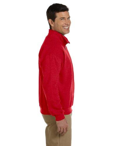 Gildan HeavyBlend vintage ¼ zip sweatshirt(Red, 3XL)