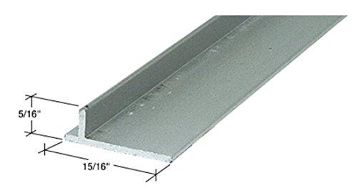 CRL Aluminum Sliding Screen Door Rail - 72 in (Aluminum Glass Rail)