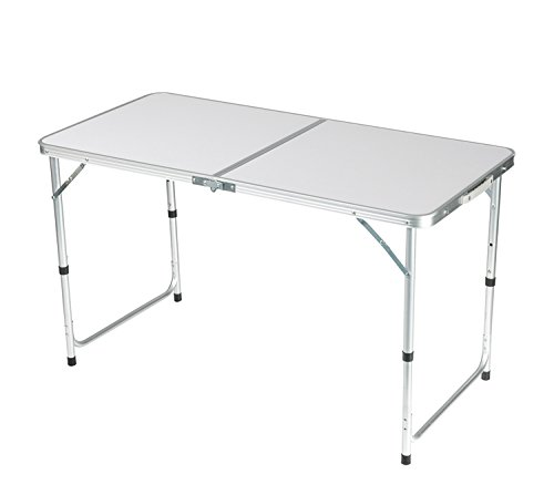 BuyHive Camping Table Folding Adjustable Portable Picnic Indoor Outdoor Party Dining Table Aluminum Frame