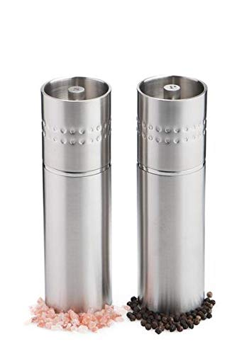 (Stainless Steel Salt & Pepper Mill Set)