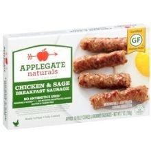 Applegate, Natural Chicken & Sage Breakfast Sausage, 7oz (Frozen)