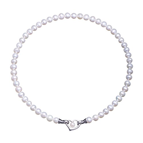 Pearl Necklace Freshwater Cultured Pearls with Heart Anniversary Gifts for Women - VIKI (Pearl Jewelry)