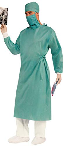 Plastic Surgery Halloween Costume (Forum Novelties Men's Master Surgeon Adult Costume, Green, One)