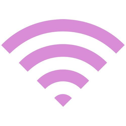 Set of 3 - WiFi Icon Decal Sticker Color: Pink- Peel and Stick Vinyl Sticker
