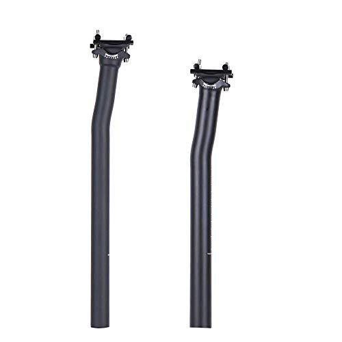ELITA ONE Bicycle Seatpost MTB/Road Offset 0°/7° Carbon Fiber seatpost 27.2/31.6mm Black matt (Ø27.2 × 350mm, Offset 7°)