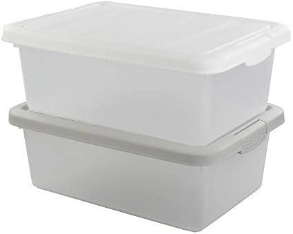 Qshape Color Blanco y Gris Contenedor Cajas para Zapatos Caja de ...