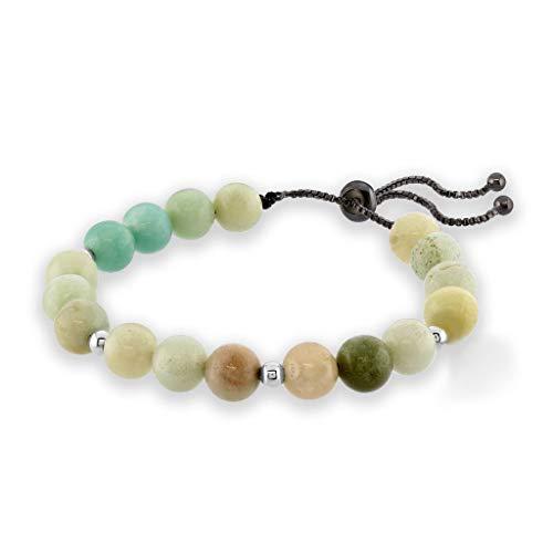 Believe London Chakra Bracelet Anxiety Gemstone Crystal 7 Chakra Natural Stone Healing Men Women Stress Relief Reiki Yoga Diffuser Semi Precious (Amazonite Adjustable Chain)