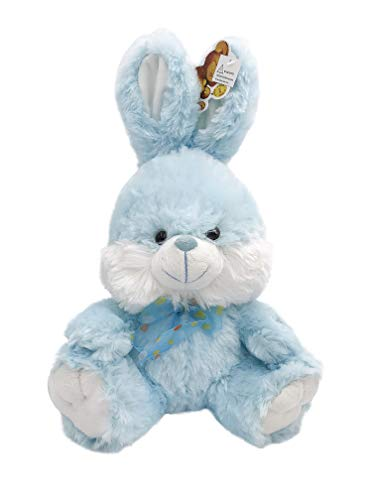 Cheek Bunny - Blue Bunny Fluffy Plush Toy With Lighted Cheeks and Musical Cover Song 'You Are My Sunshine'