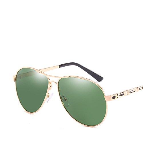 De Moda De De De Hombres Callejero Los Protección Gafas Metal Gafas Green Silver Conducción Marco Tiro UV Retro Sol 1qAxwxf68