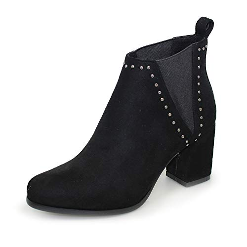 Lunar Womens Nyla Elasticated Ankle Boots Black