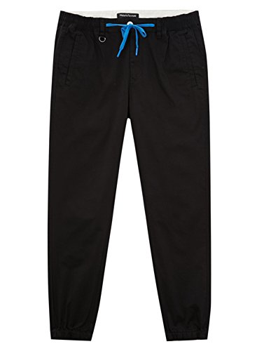 meters-bonwe-mens-classic-drawstring-waist-jogger-pants-with-pockets-black-l