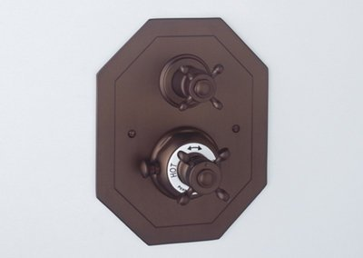 Rohl U.5556X-EB/TO, Rohl Bathtub & Shower Sets, Octagonal Concealed Thermos - English Bronze