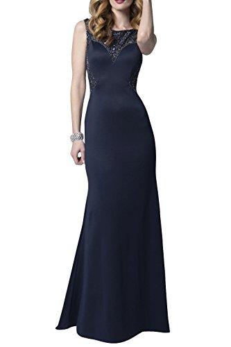 Abendkleider mia Satin Festlichkleider Blau Etuikleider La Brau Partykleider Ballkleider Promkleider Kleider Langes Jugendweihe Navy wAqxgxIRU