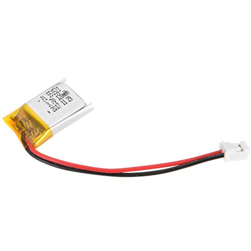 - uxcell Power Supply DC 3.7V 120mAh 551521 Li-ion Rechargeable Lithium Polymer Li-Po Battery