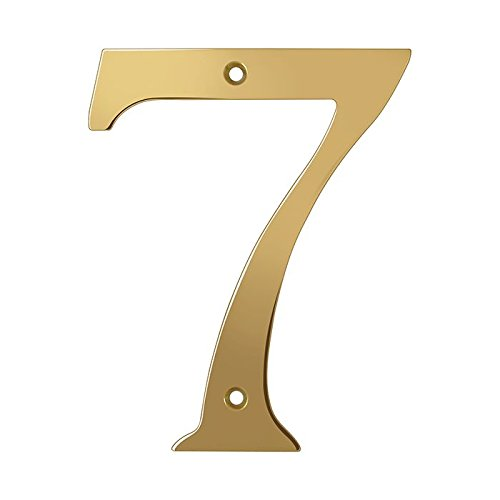 Deltana RN6-7 Solid Brass 6-Inch House Number 7 Board