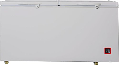 Smad Solar Energy 12V/24V Refrigerator/Freezer Double Door Chest Fridge,12.8 cu ft,White by Smad