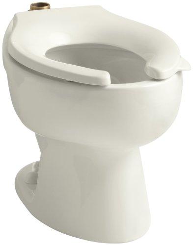 KOHLER K-4350-96 Wellcomme Elongated Toilet Bowl, (Toilet Bowl Biscuit)