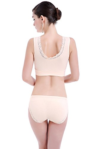 pad rims Lace style nursing Light maternity underwear breast vest without cross bra hexingshan without pink xYw7RqqF