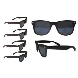 (2 count) Retro Risky Business Blues Brothers Wayfarers Sunglasses with Black - Risky Business Glasses