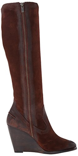Frye mujeres de CECE costura Tall Boot Brown-73889