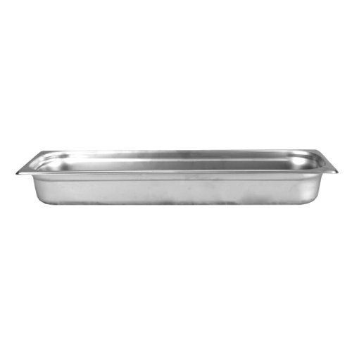 2 1/2'' Deep, Half Size Long Standard Weight Stainless Steel Steam Table / Hotel Pan Anti-Jam