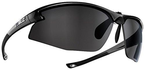 Bliz Motion Cyclisme Multi Sport Lunettes 100% UVA/Protection UVB Lunettes de soleil - Blanc (Lentilles Ambre), One Size