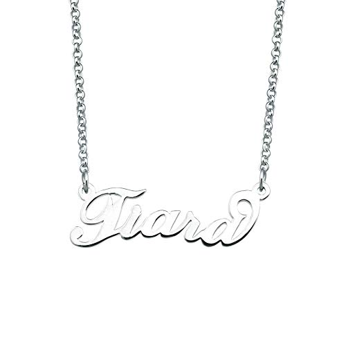 SexyMandala Personalized Name Necklace Initial Necklace Customized Sterling Silver Original Font Pendant Jewelry Same Day Shipping Gift for Tiara