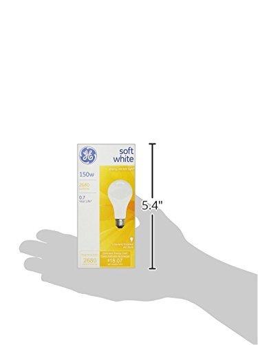 GE 10429 150W Soft White A21 Medium Base Light Bulb (12 Pack)