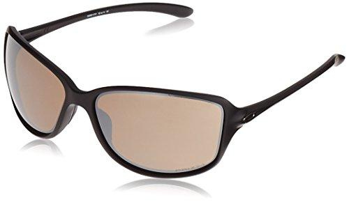 Oakley Women's OO9301 Cohort Rectangular Sunglasses, Matte Black/Prizm Tungsten Polarized, 62 ()