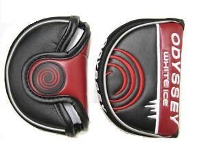 Odyssey White Ice Rossie Putter Headcover Red Black and White