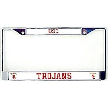 Amazon.com : USC Trojans Chrome License Plate Frame : Sports Fan ...